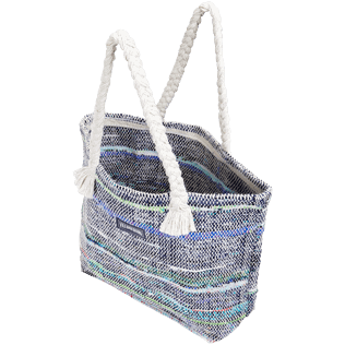 Others Printed - Large Beach Bag Eco-friendly, Blue backworn