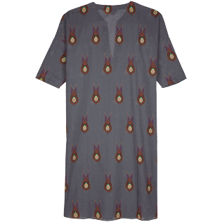 Women Others Printed - Women Cotton Long Cover-up Paon Paon, Navy back