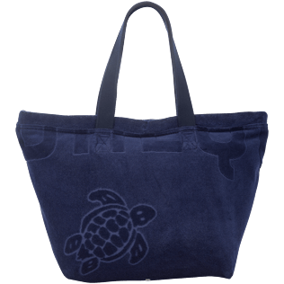 Men Bags Solid - Large Terry Cloth Beach bag Solid Jacquard, Navy front