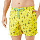 Men Classic Embroidered - Men Swim Trunks Embroidered Bateaux sur l'eau - Limited Edition, Buttercup yellow supp1