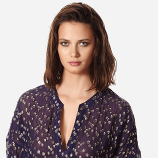 Women Others Graphic - Women Beach Cover-up Golden Plumetis, Midnight blue supp1