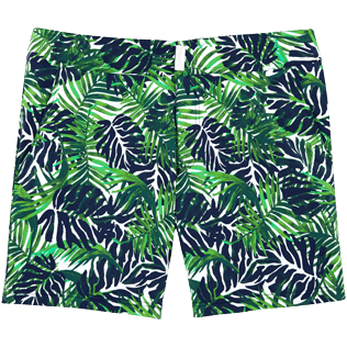 Men Fitted Printed - Madrague Fitted cut Swim shorts, White front