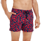 Men Stretch classic Printed - Men Swim Trunks Stretch Crackers, Navy supp1