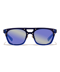 Others Solid - Unisex Sunglasses Blue Mirror, Royal blue front
