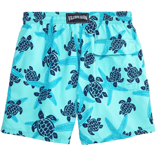 Men Classic / Moorea Printed - Starlettes & Turtles Swim shorts, Lagoon back