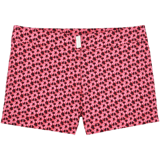Women Shorties Printed - Micro Turtles Hawaï Stretch shortie, Pink front