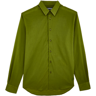 Men Others Solid - Unisex Cotton Shirt Solid, Moss front