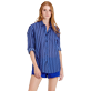 Others Printed - Unisex Cotton Voile Light Shirt Re Mi Fa Soles, Royal blue supp5