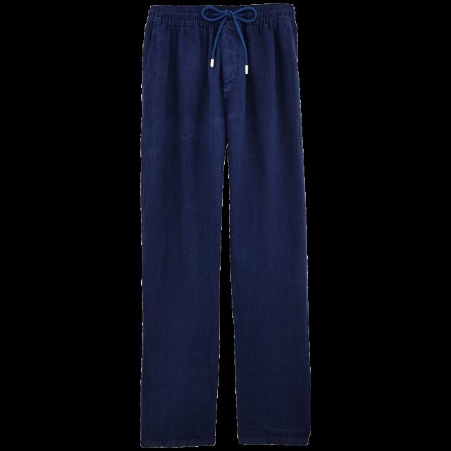 Vilebrequin - Pantalón de lino liso para hombre - 1