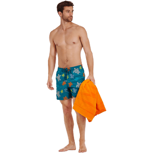 Men Classic Embroidered - Men Swim Trunks Embroidered Ronde des tortues - Limited Edition, Pine wood supp2