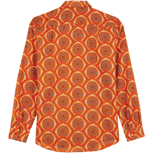 Others Printed - Unisex Cotton Voile Summer Shirt 1975 Rosaces, Apricot back