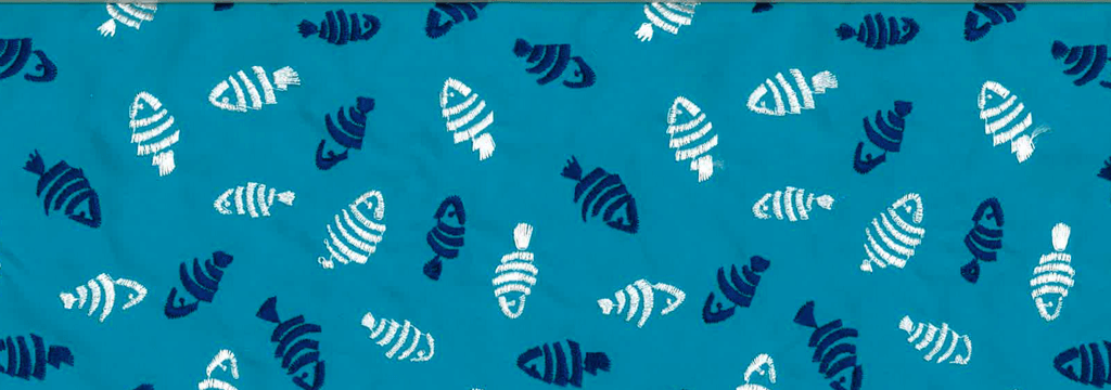 Men Embroidered Embroidered - Men Swimtrunks Embroidered Mini Fish - Limited Edition, Curacao pattern
