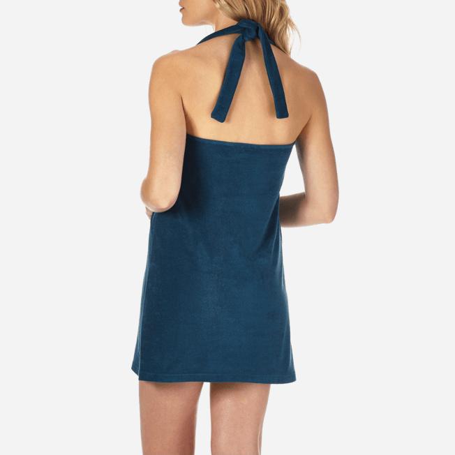 Vilebrequin - Robe courte dos nu en Eponge Femme Unie - 6
