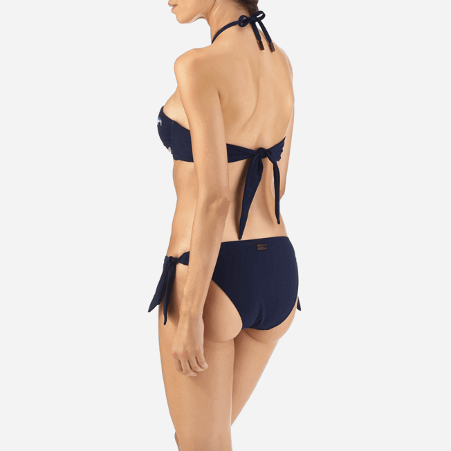 Vilebrequin - Haut de maillot bandeau Blue Breath Brodé - 5
