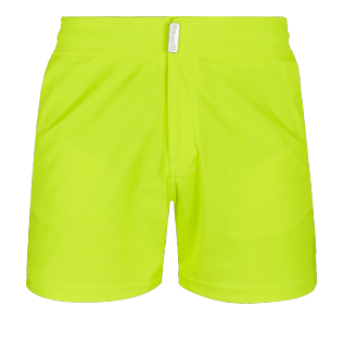 Men Flat belts Solid - Men Swimwear Short Flat Belt Stretch Prince de Galles, Neon yellow front