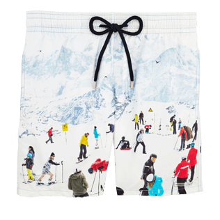 Men Classic Printed - Men Swimwear Massimo Vitali, Sky blue front