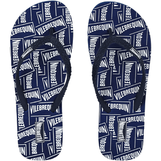 Women Others Solid - Women Flip Flops Vilebrequin Labels, Navy front