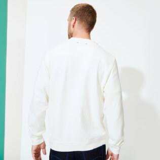 Men Others Solid - Men Crew Neck Sweater VBQ71, Off white backworn