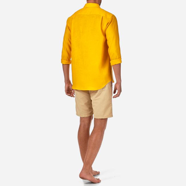 Vilebrequin - Camisa de lino liso para hombre - 4