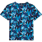 Tee-Shirts Imprimé - T-Shirt Col Rond Camouflage Turtles, Azur front