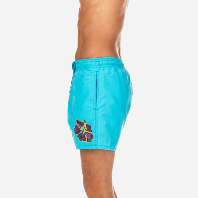 Vilebrequin - Natural Flower Placed Embroidery Swim shorts - 7