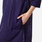 Women Others Solid - Women Long linen jersey Tunic Dress Solid, Midnight blue supp1