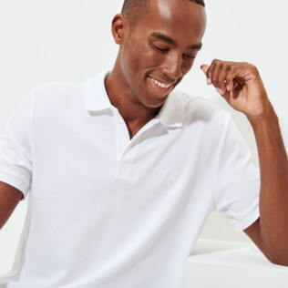 Men Others Solid - Men Cotton Pique Polo Shirt Solid, White supp2