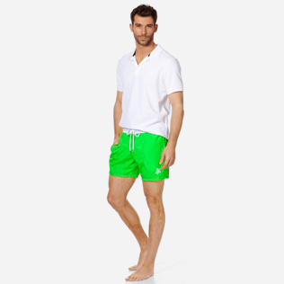 Men Ultra-light classique Solid - Men Swim Trunks Ultra-Light and Packable Solid Bicolore Fluo, Neon green supp2