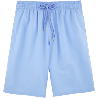 Men Long Solid - Solid Long Cut Swim shorts, Sky blue front