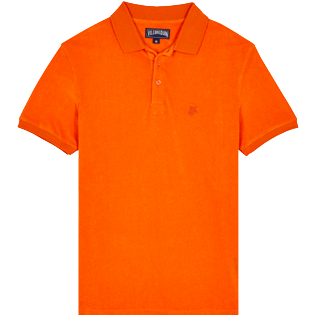 Men Others Solid - Men Terry Polo Shirt Solid, Apricot front