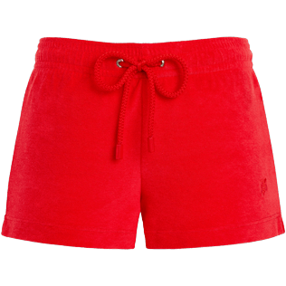 Women Others Solid - Women terry cloth shortie solid - Vilebrequin x JCC+ - Limited Edition, Poppy red front