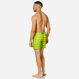 Men Embroidered Embroidered - Men Swimwear Embroidered Squad Turtles - Limited Edition, Chartreuse backworn