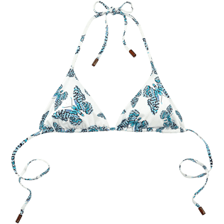 Women Tops Printed - Butterflies Triangle bikini top, Azure front