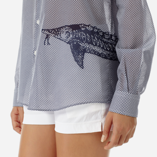 Others Printed - Unisex Cotton voile Shirt Belle ou Gars, White supp5
