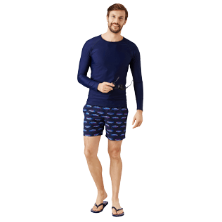 Men Others Solid - Men Rashguard Solid, Navy supp2