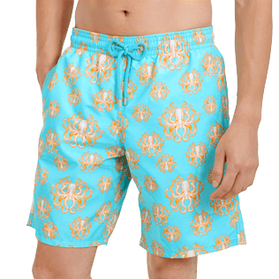 Men Long classic Printed - Men Swimwear Long Poulpes, Lagoon supp1