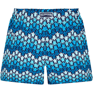 Women Others Printed - Women Swim Short Herringbones Turtles, Navy back