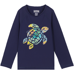 Autros Estampado - Camiseta térmica con estampado Jungle para niños, Midnight blue front