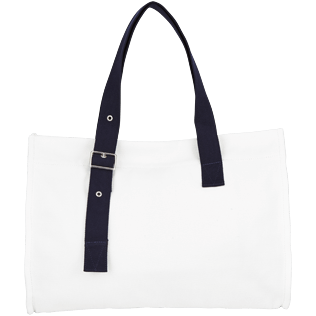Bags Solid - Large Solid Beach Bag, White back