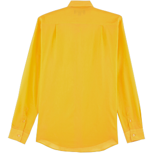 Others Solid - Unisex Cotton Shirt Solid, Mango back