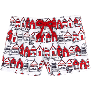 Girls Shorties Printed - Tarte Tropezienne Straight cut shortie, Poppy red front