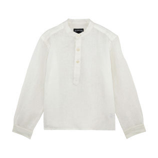 Boys Others Solid - Boys Linen Shirt Solid, White front