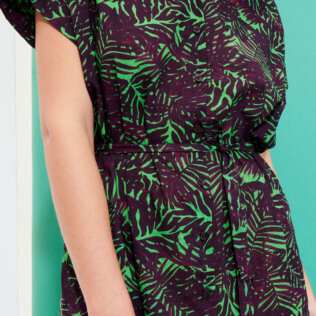 Women Others Printed - Women Cotton Shirt Dress Madrague, Grass green supp1