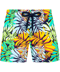 Girls Others Printed - Girls Swim Short Jungle, Midnight blue front