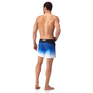 Men Fitted Printed - Karl Lagerfeld Fitted cut Swim shorts, Ocean backworn
