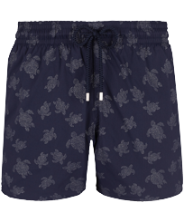 Men Stretch classic Printed - Men Swimwear Stretch Diamond Turtles, Navy front