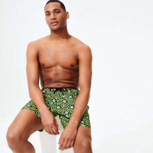 Homme CLASSIQUE ULTRA-LIGHT Imprimé - Maillot de bain Homme Ultra léger et pliable Where is my peacok, Citronnelle supp2