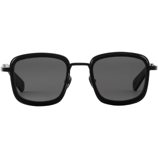 Sunglasses Solid - Smoke mono polarised Sunglasses, Black front