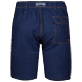 Men Others Solid - Men Linen Cotton Straight Bermuda Shorts Solid, Indigo back
