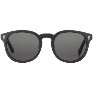 Others Solid - Unisex Sunglasses Solid, Black frontworn